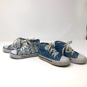 Kidgets Set  HightTop Shoes Girls Lace Up Blue's 8